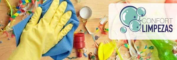 Limpeza de festas e eventos